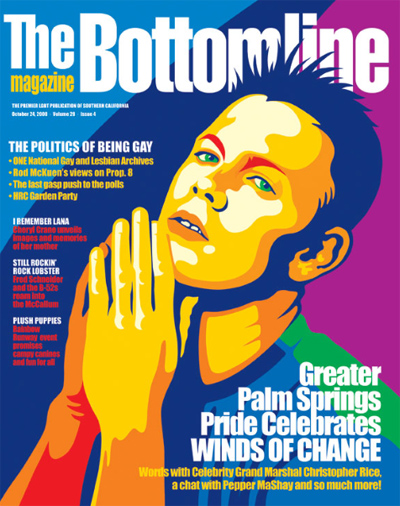 The Bottomline Magazine featuring author Christopher Rice