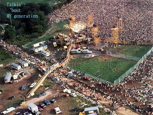 Woodstock crowds